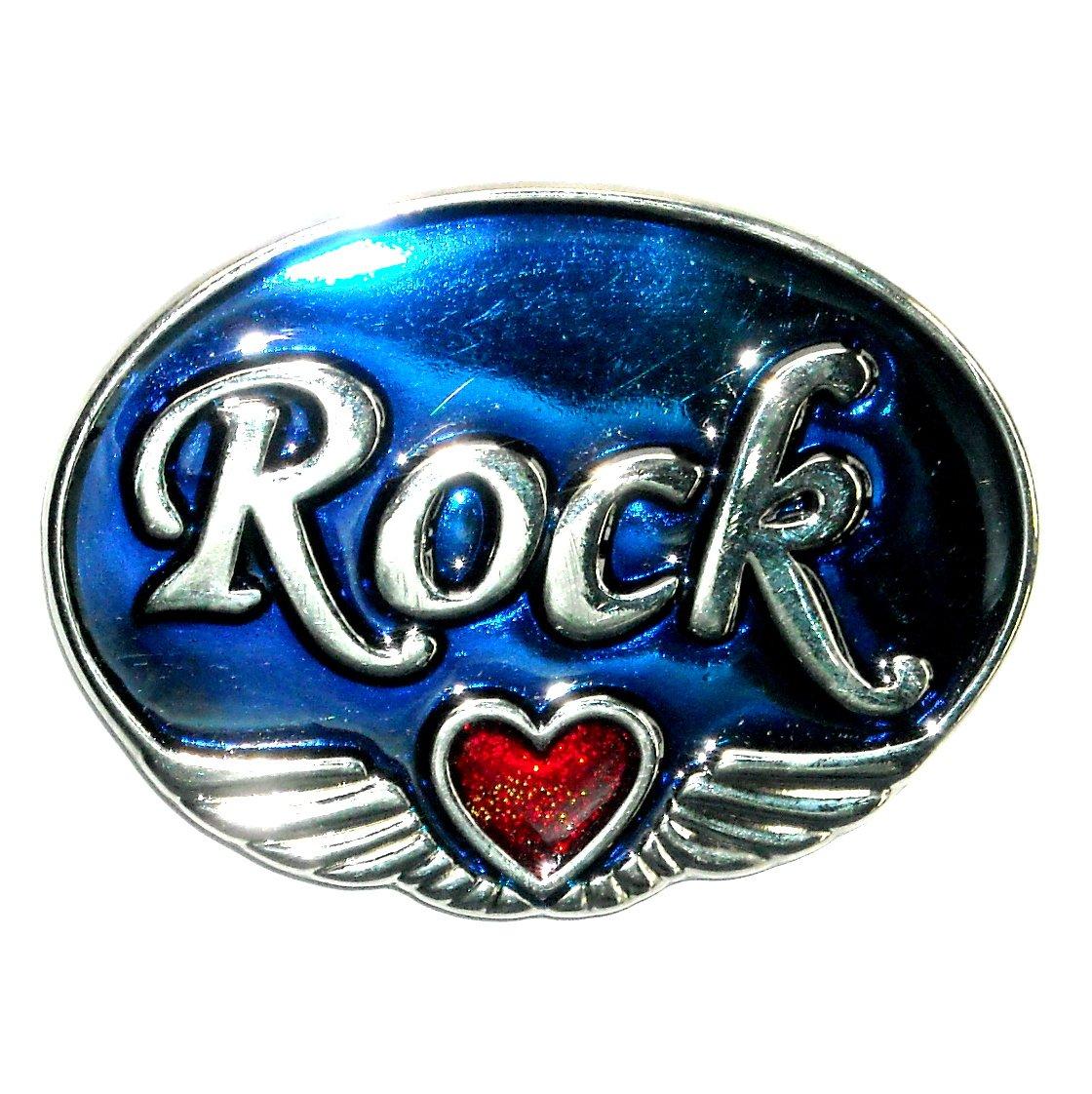 LOVE ROCK Vintage Belt Buckle NOS