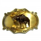 Vintage Raintree Moose 3D Belt Buckle
