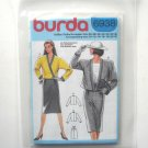 Misses Jacket Skirt Burda Sewing Pattern 6938