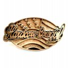 Cowgirl Hardcore Award Design Solid Brass Belt Buckle