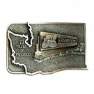 Grandview Washington Lions Club Bergamot Pewter Belt Buckle