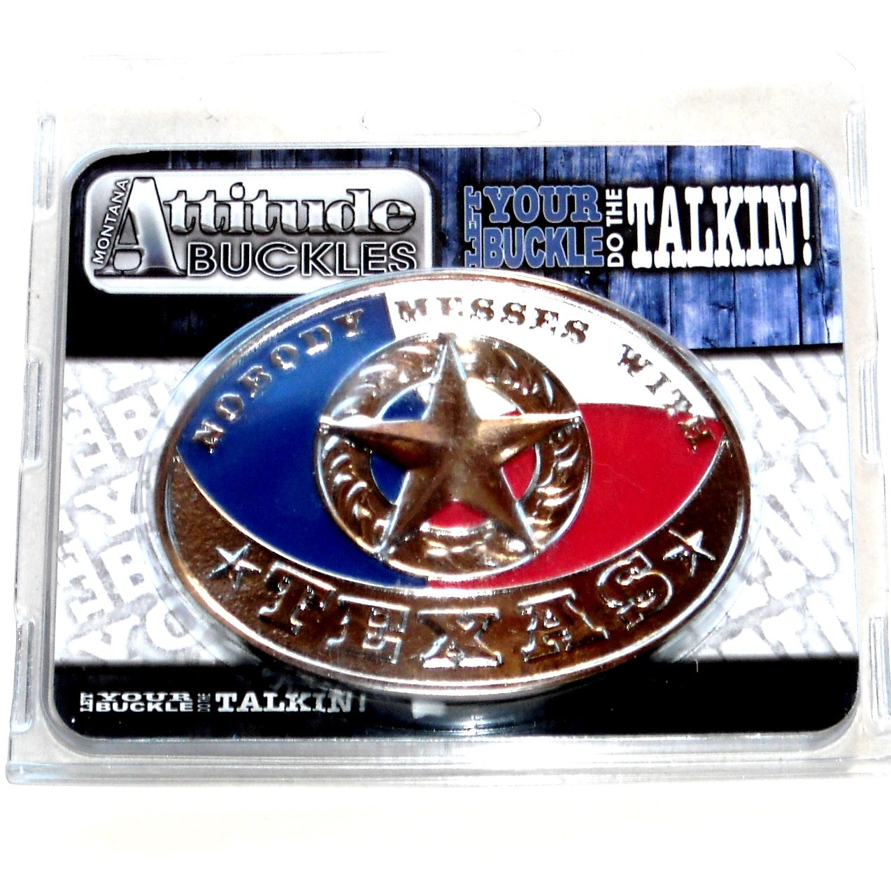 Montana Silversmiths Nobody Messes With Texas Western Belt Buckle