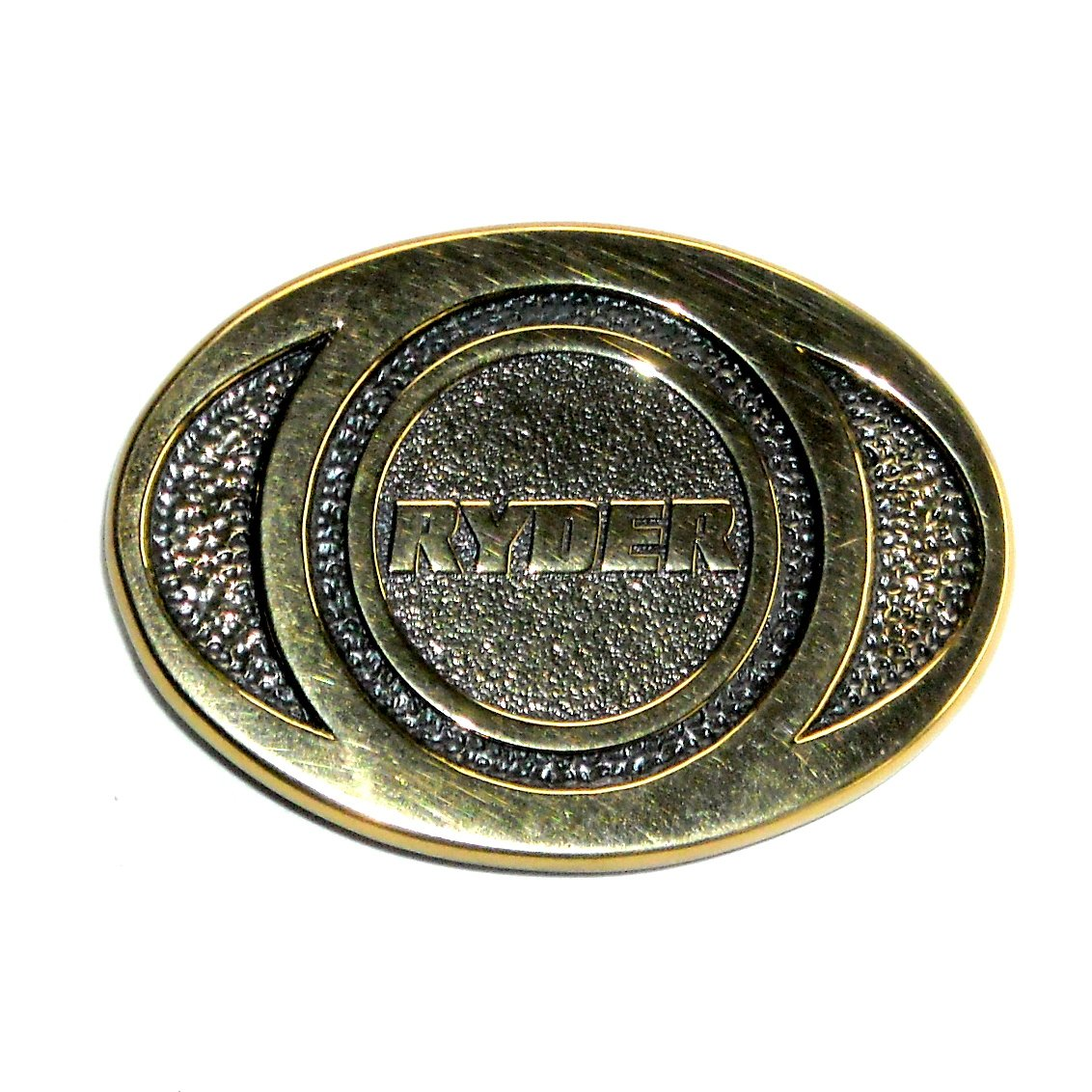 Ryder Solid Brass Vintage Belt Buckle