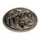 Texas State Seal Montana Silversmiths Western Belt Buckle