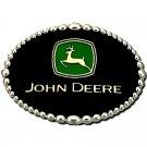 Licensed John Deere Logo Montana Silversmiths Western Belt Buckle