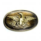 Early Militia Eagle Shield Arrows Vintage Belt Buckle