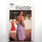 Halter Dress Romper Ali MacGraw 12 Vintage Simplicity Sewing Pattern 6888