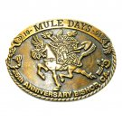 Bishop California 1994 Mule Days Bronze No 0116 Belt Buckle