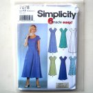 Misses Miss Petite Dress 8 10 12 14 Simplicity Sewing Pattern 7078