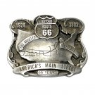 Route 66 Americas Main Street Pewter Belt Buckle
