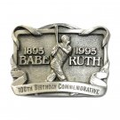 Babe Ruth 100th Birthday Pewter Belt Buckle