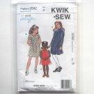 Girls Pullover Dress Kwik Sew Sewing Pattern 2592