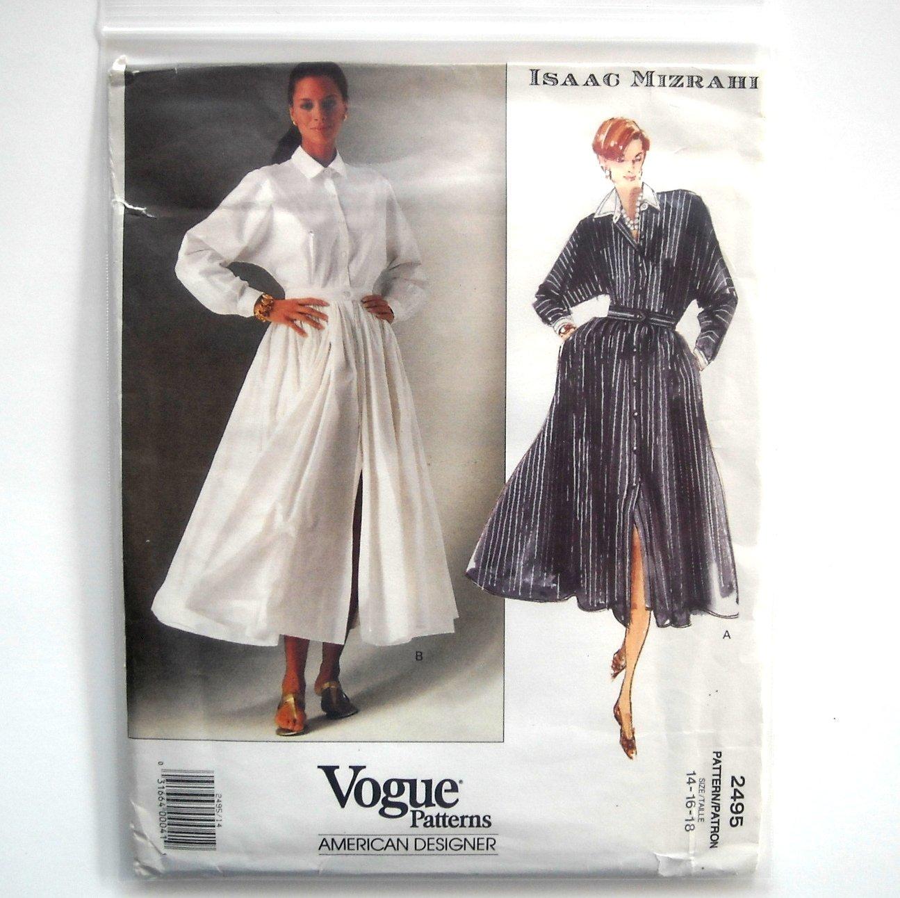 Isaac Mizrahi Misses Dress Vogue Sewing Pattern 2495