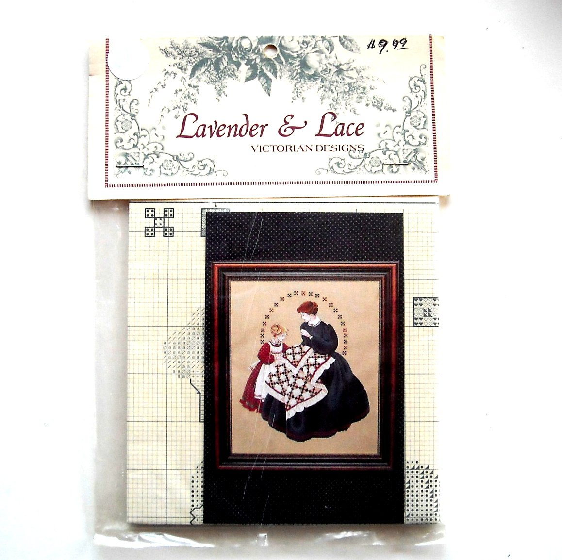 Lavender Lace Victorian Designs Quiltmaker Counted Cross Stitch Pattern