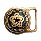 American Revolution Bicentennial Solid Brass Belt Buckle