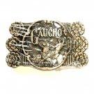 Gaucho National Cowboy Hall Of Fame ADM Brass Belt Buckle
