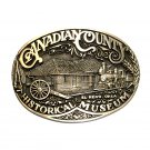 Canadian County Museum ADM Award Design Vintage Solid Brass Belt Buckle