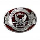 Mondale Ferraro 1984 Bergamot Solid Pewter Vintage Belt Buckle