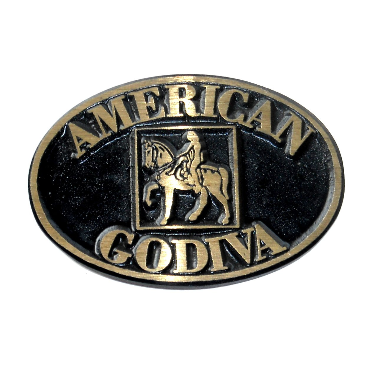 American Godiva Vintage Solid Brass Dyna Belt Buckle