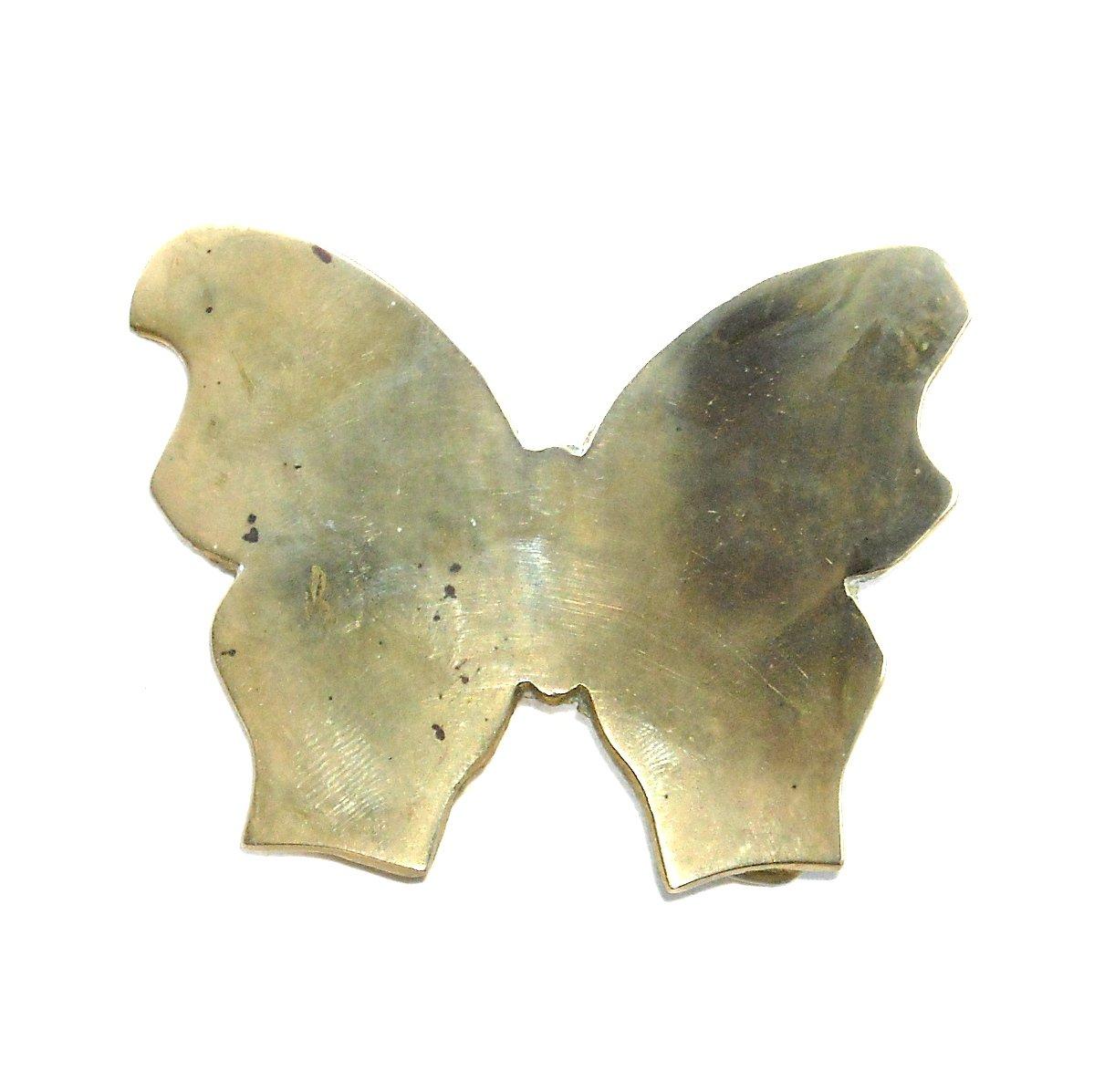 Large Butterfly Vintage Solid Brass Belt Buckle