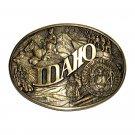 Idaho State Seal Award Design Solid Brass Belt Buckle