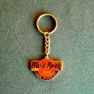 Hard Rock Cafe Los Angeles Gold Tone Keyring Chain