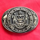 Tony Lama First Edition Great Seal State Of Delaware Brass Belt Buckle