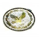 Bald Eagle Silver Gold Color Vintage Belt Buckle