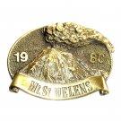 Washington Mt St Helens Brass Color Vintage Belt Buckle