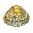Utah Vintage Indiana Metal Craft 1977 Belt Buckle