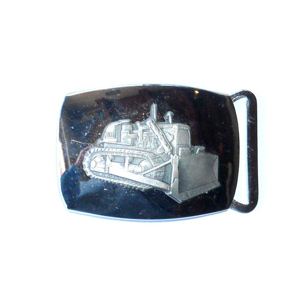 Caterpillar Vintage Cat D71 Dozer Small Clamp-On Belt Buckle