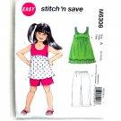 Children's Top Dress Shorts Capri Pants McCalls Sewing Pattern M6306