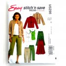 Misses Unlined Jacket Top Skirt Pants McCalls Sewing Pattern M5298