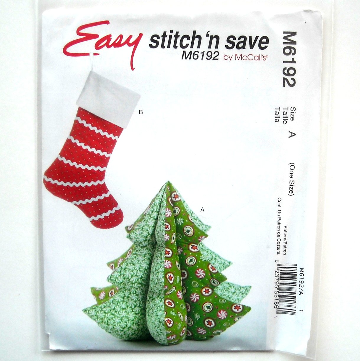 Holiday Decorations McCalls Sewing Pattern M6192