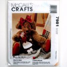 Gracie Bear Anne 1995 Vintage McCalls Crafts Sewing Pattern 7981