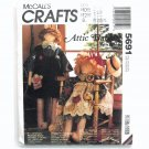 Attic Babies Boy Girl Dolls 1991 Vintage McCalls Crafts Sewing Pattern 5691