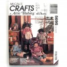 Boy Girl Dolls Attic Babies 1991 Vintage McCalls Crafts Sewing Pattern 5695