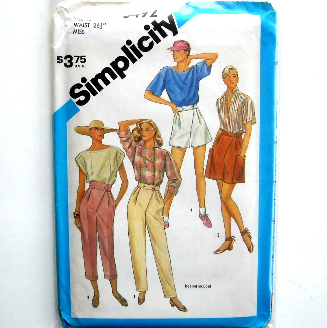 Misses Pants Shorts Asymmetric Vintage Simplicity Sewing Pattern 6492