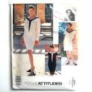 Misses Pullover Dress Vintage Uncut Attitudes Vogue Sewing Pattern 2691
