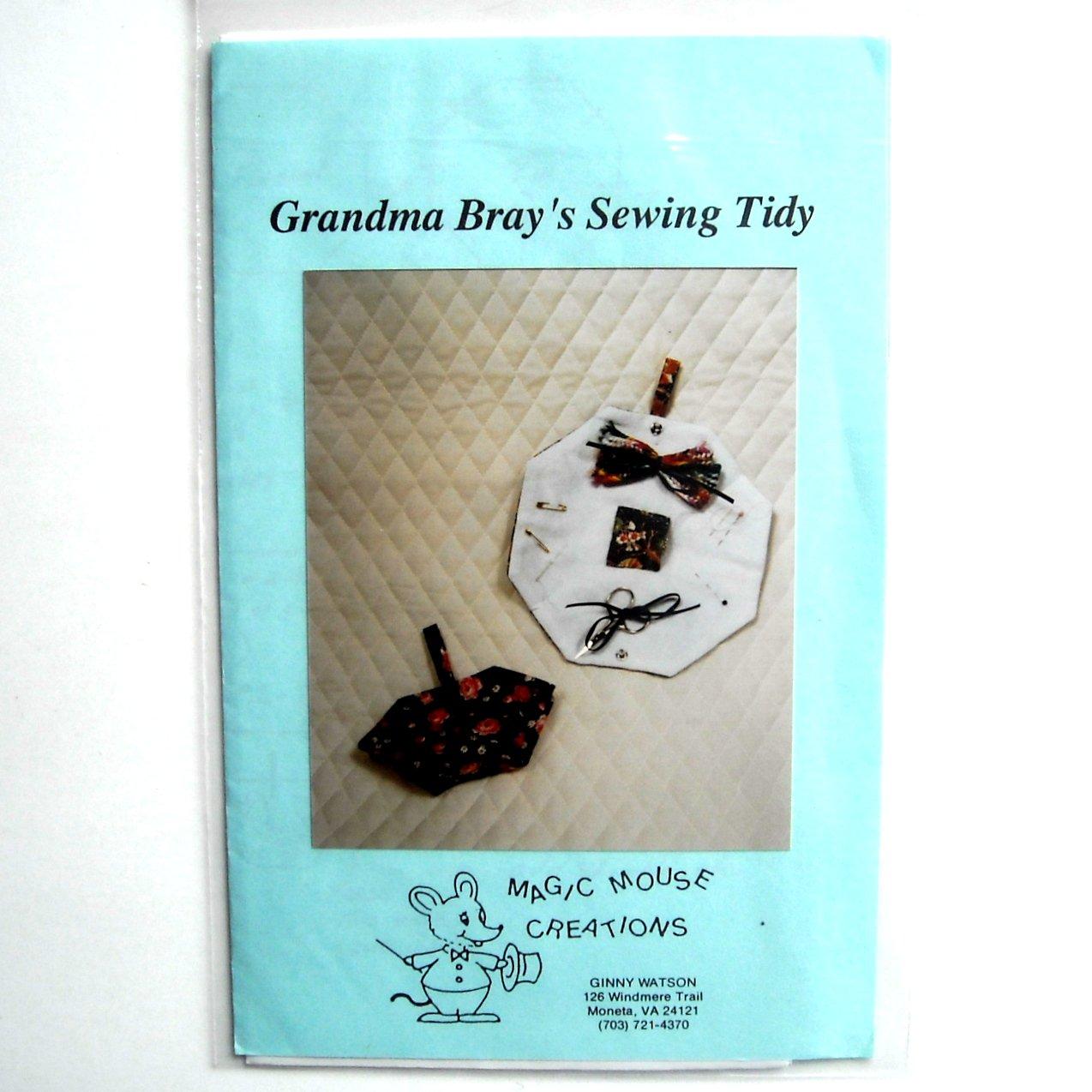 Grandma Bray's Sewing Tidy Craft Pattern