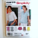 Misses Pullover Top Simplicity Sewing Pattern S0885 8090