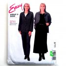 Shirt Top Pull on Pants Skirt 16 - 22 Easy McCalls Sewing Pattern 3711