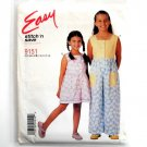 Girls Jumpsuit Rompers 7 - 14 Easy McCalls Sewing Pattern 9151