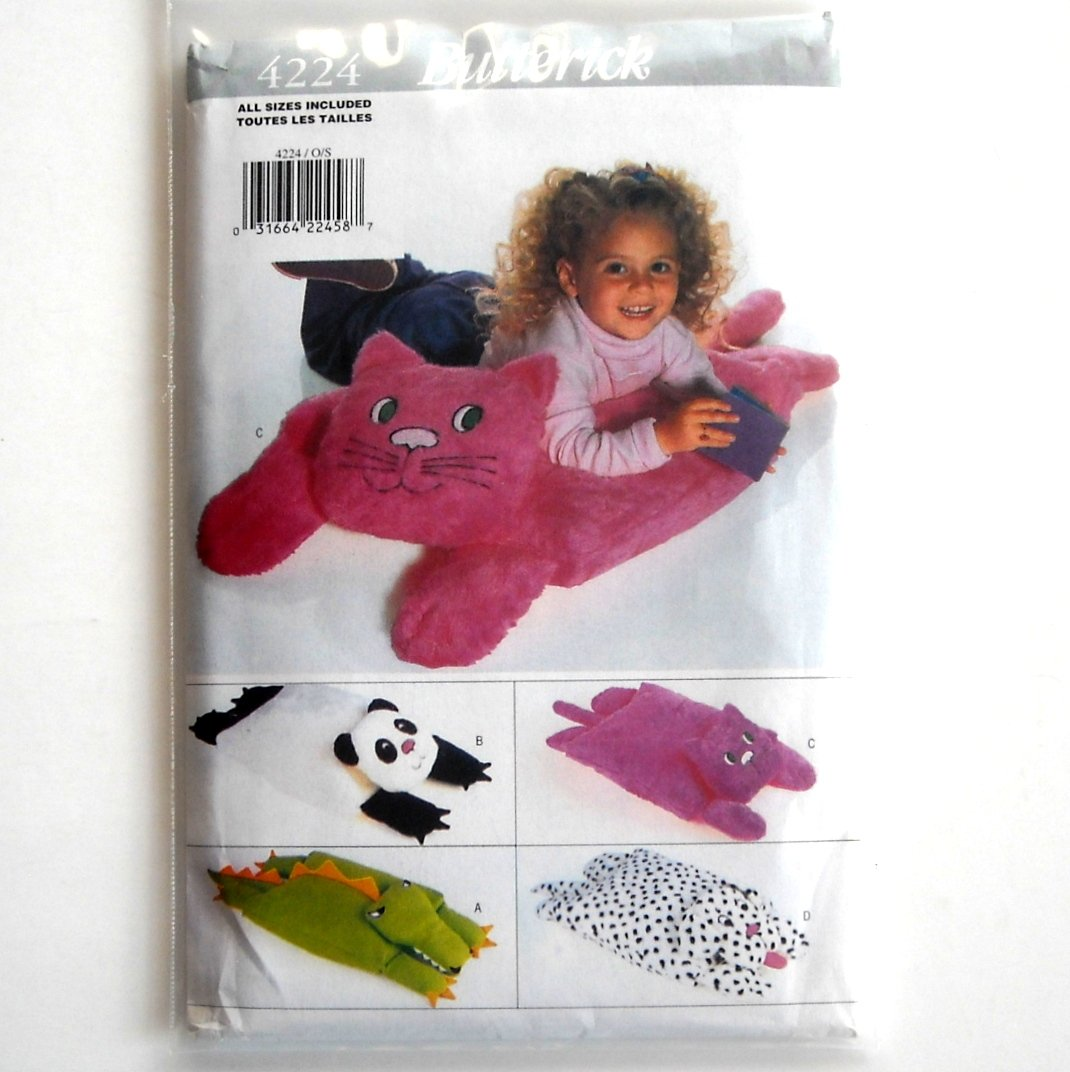Animal Pillow Pals Covers Vintage Butterick Sewing Pattern 4224