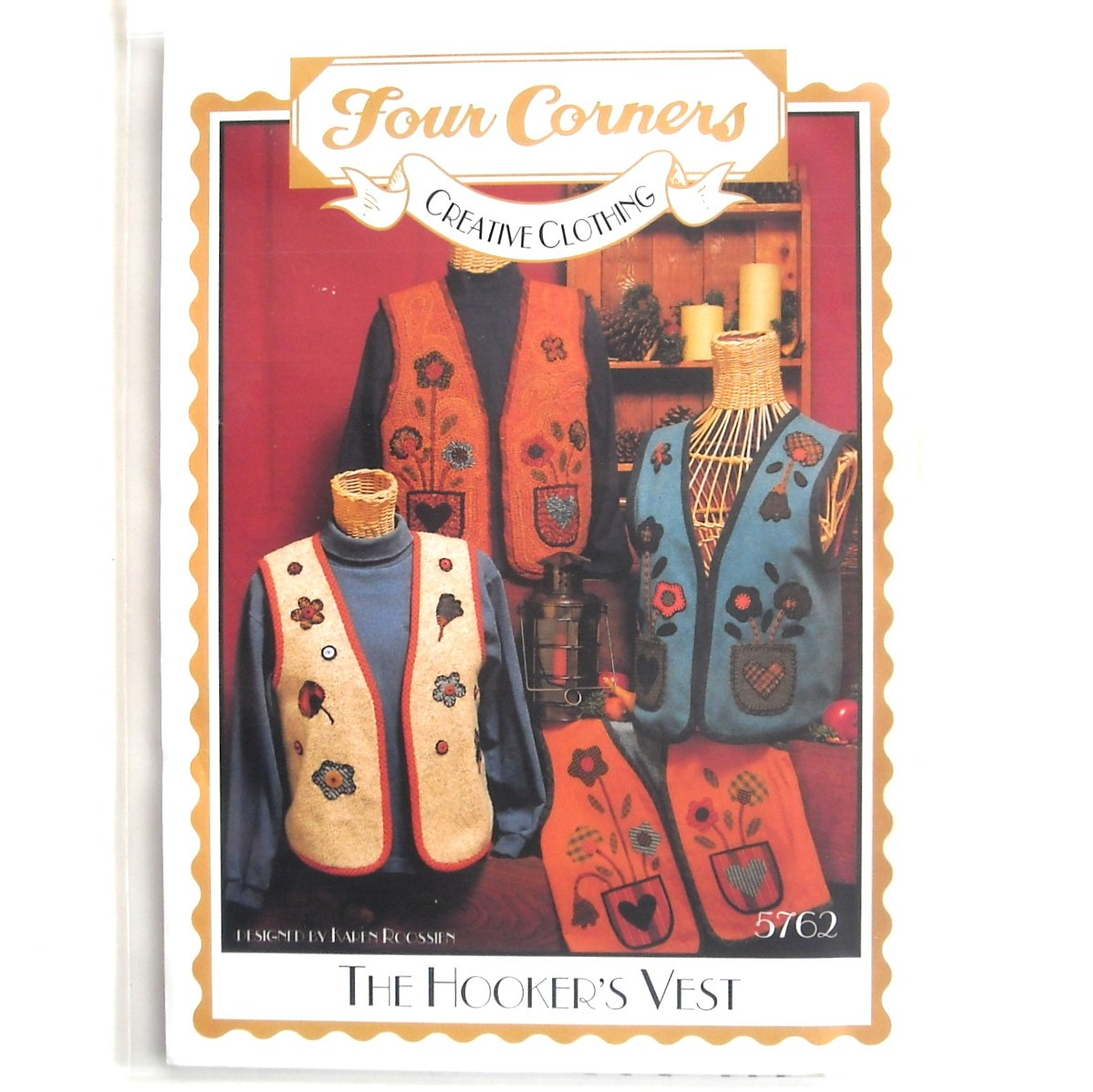 The Hooker's Vest Four Corners Sewing Pattern No 5762