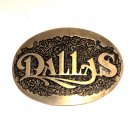 Dallas Texas Award Design ADM Solid Brass Vintage Belt Buckle