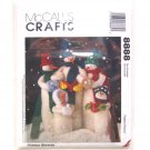 Snow Carolers Christmas Decor McCall's Crafts Sewing Pattern 8888