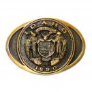 Idaho State Seal Vintage Heritage Mint Solid Brass Belt Buckle