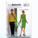 Misses Jacket Skirt Pants David Warren Butterick Sewing Pattern 3917