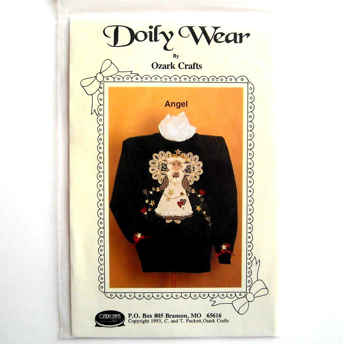 Ozark Crafts Designs Doily Wear Angel Pattern #813